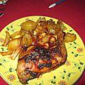 Cuisses de poulet aux piments doux