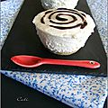 Cheesecakes au chocolat blanc & citron vert, framboise & coulis chocolat (sans cuisson) - cheesecakes al chocolate blanco ....