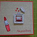 Carte rouge à lèvres et flacon de parfum shaker box