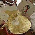 kit de couture coeur doré