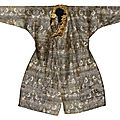 A rare silk robe, central asia, 11th-12th century