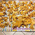 Filets de cabillaud aux girolles, sauce citronnée et moutardée