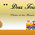2 fois maman.. happy blog day (concours !!)
