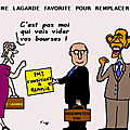 Lagarde favorite pour remplacer dsk