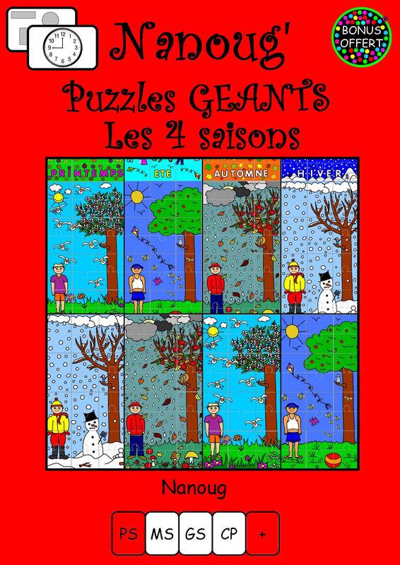 B11-BONUS PUZZLES GEANTS SAISONS