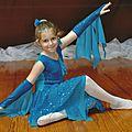 Costume de danse de mariana-- bleu mer