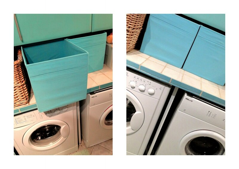 idées buanderie bleu vert turquoise blanche beautiful laundry valerie albertosi