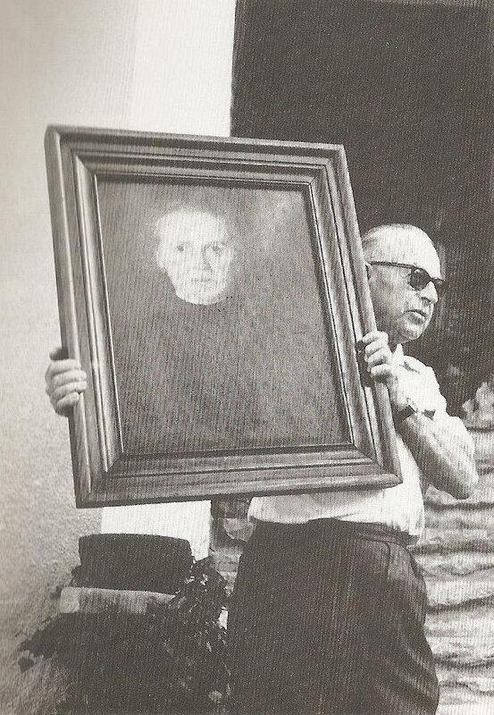 Portrait de Noémie Merle par Simon Bussy tenu par Henri Fluchère