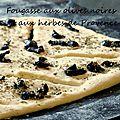 Fougasse aux olives et herbes de provence