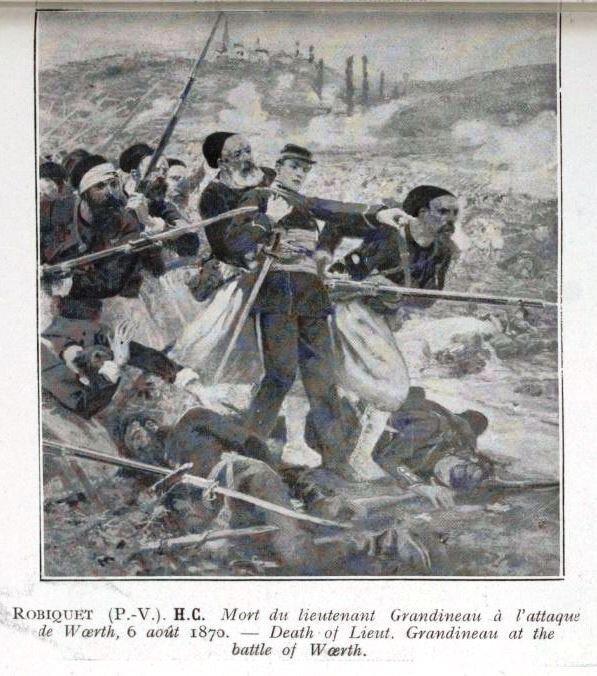 Robiquet, Mort de Grandineau, Woerth (1913)