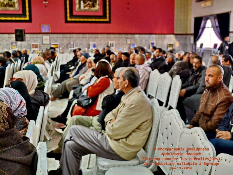 Fête pour honorer des retraités(ées) de l'éducation nationale à Berkane 30-12-2016 (6)