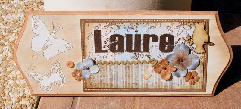 plaque de porte Laure