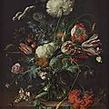 Jan davidsz de heem (dutch, 1606 - 1684), vase of flowers, c. 1660