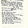 Un manuscrit de ingeborg bachmann