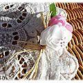 Boutonnière champêtre rose et blanc1