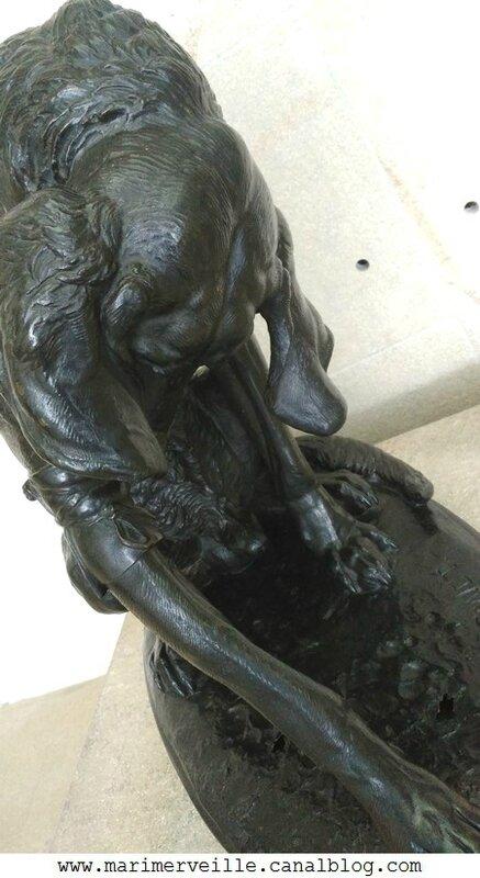 Chien bléssé - Emmanuel Fremiet - musée d'orsay - marimerveille