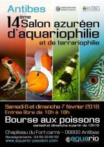 Affiche 14ème salon azuréeen d'aquariophilie et de terrariophilie à Antibes