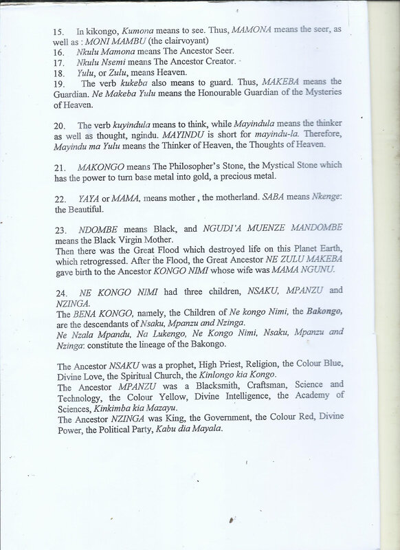 NAMES OF BAKONGO 9