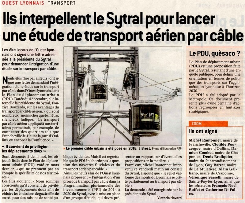 Art Progrès 12 dec 2017 transport aerien Sytral