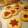 Biscuits vitrail au caramel
