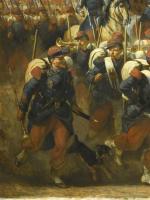 Barrias, défilé de l'armée d'Orient, 1854