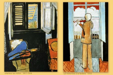 Matisse interieur violoniste 1917