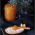 Confiture d'abricots a la lavande