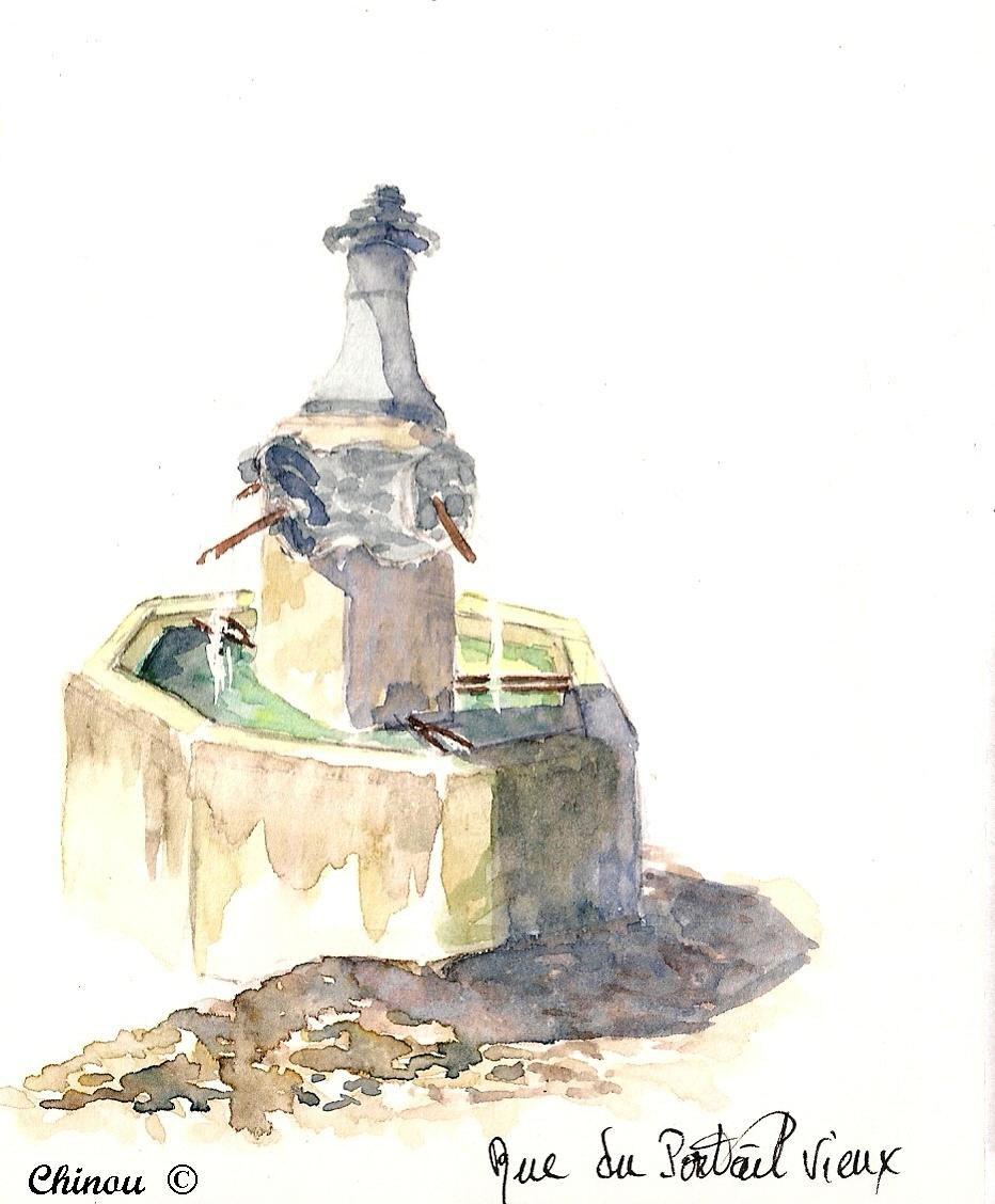 Mormoiron : fontaine rue du Portail Vieux