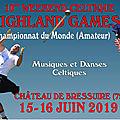 Le programme et l'affiche des highland games: merci facebook!