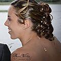 Coiffure mariage et collier de dos pour la mariée delphine