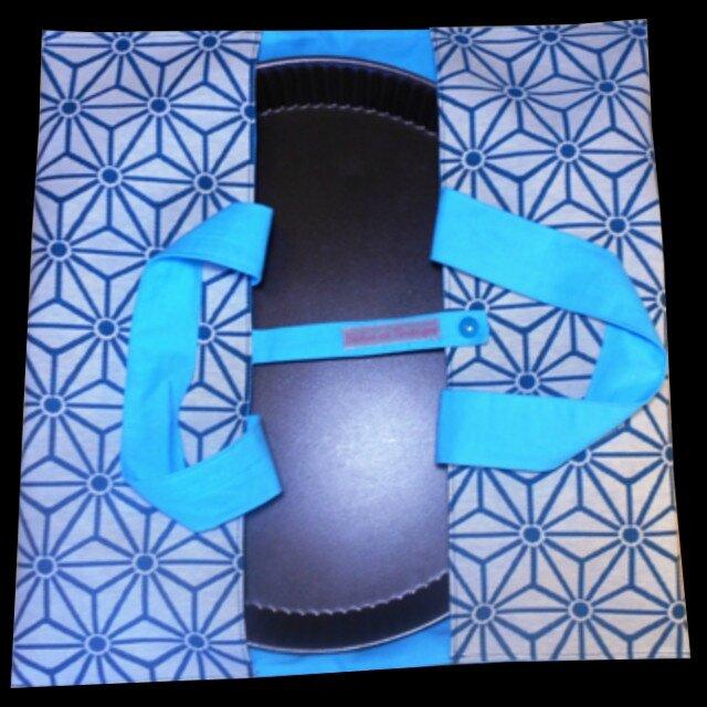 Ameublement bleu étoiles norvégiennes coton turquoise montage