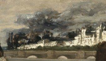 Clairin, incendie des Tuileries 1871