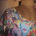 Robe RAYMONDE en coton imprimé kaléidoscope - manches raglan courtes - longueur genoux - taille unique (7)