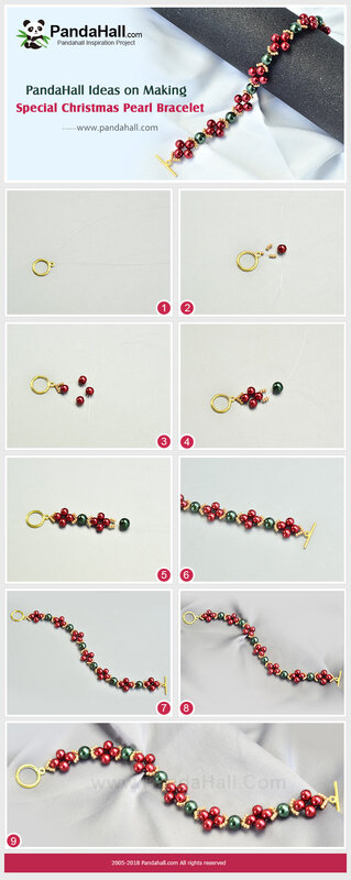 5-Special Christmas Pearl Bracelet