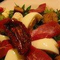 Salade de pissenlits aux magrets de canard