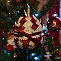 Boule de Noël sapin