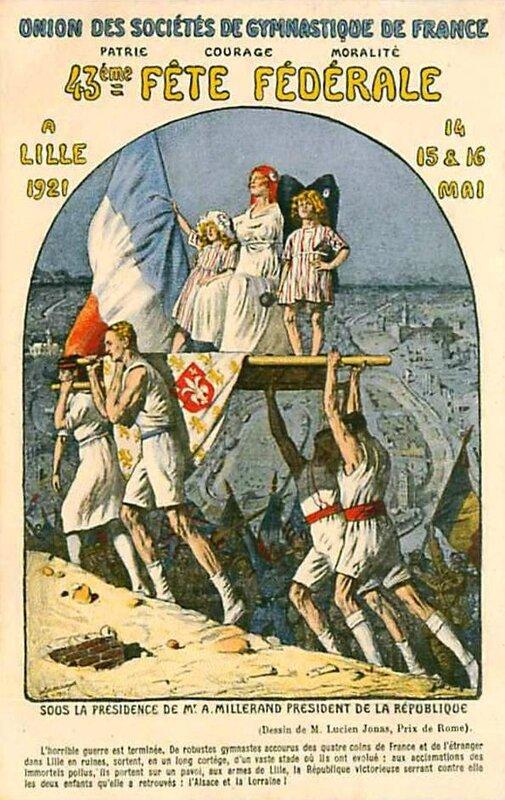 CPA Lille Fête Fédérale 1921