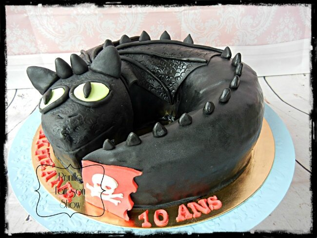 Gateau dragon en 3 D