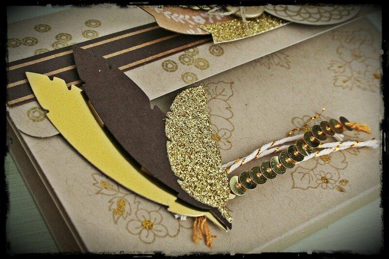 cartable à plumes détail