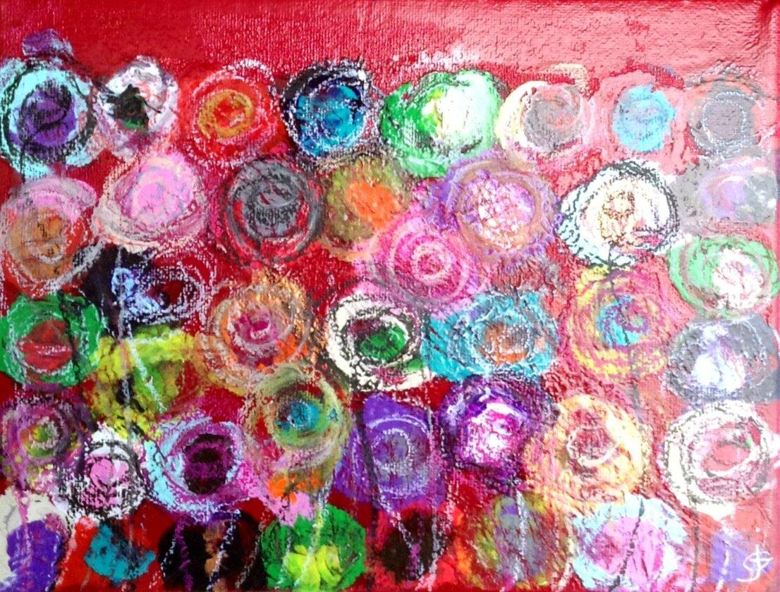 Crayonné huile, acrylique & pastel / toile 26X20