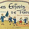 Cartes postales à colorier : les enfants de france. dessins de h. delalain