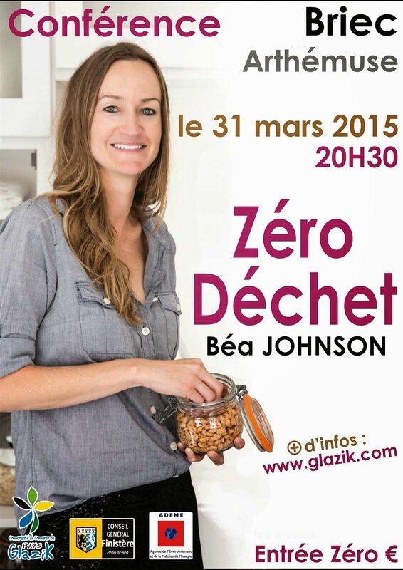 Affiche conférence 31 mars Béa JOHNSON