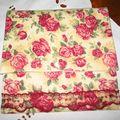 Pochette fleurie roses
