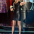 Jennifer Aniston leather minidress 216U