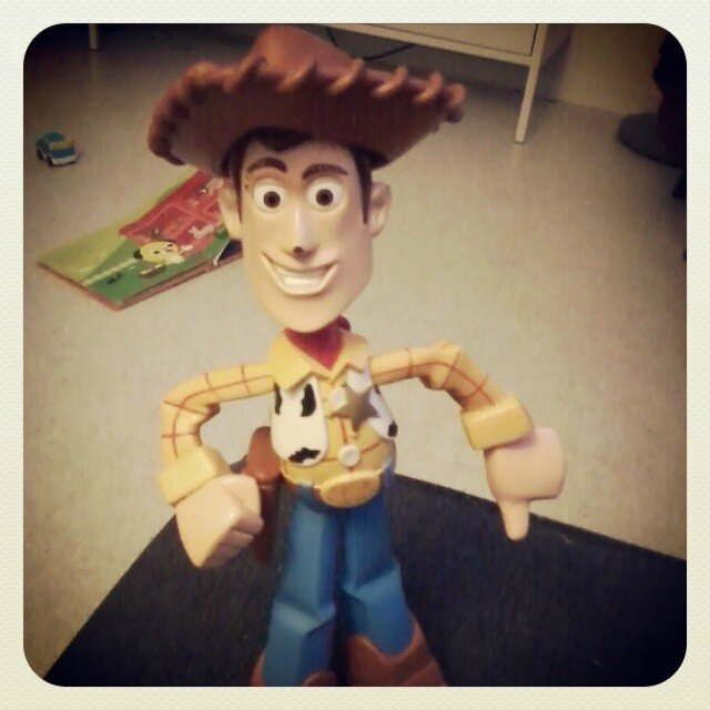 woody toy story baby sitting