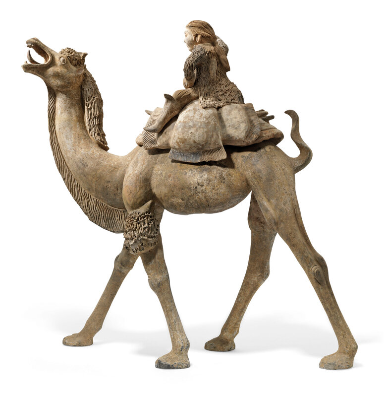 2019_CKS_17114_0004_005(a_massive_painted_pottery_figure_of_a_camel_and_rider_tang_dynasty)