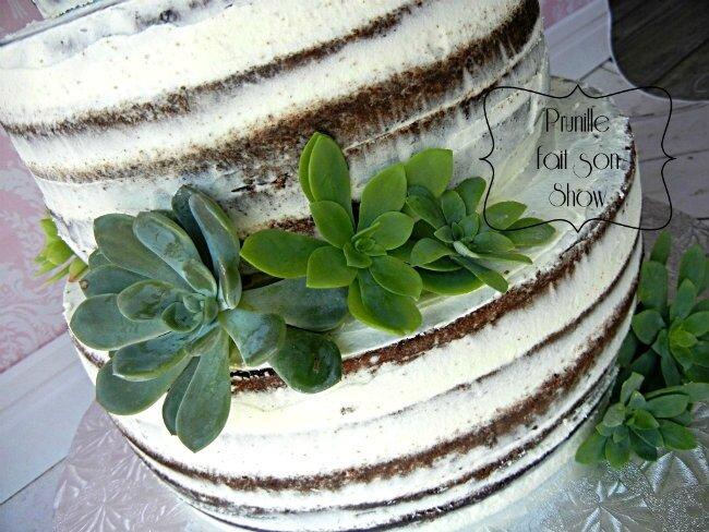 Wedding cake- Gateau de mariage - nude cake nature