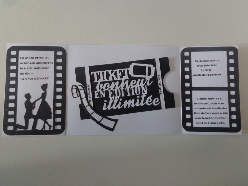 """Faire part """"cinéma"""""""