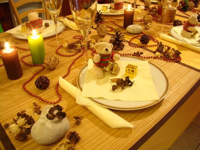 Creation de decoration de table pour noel