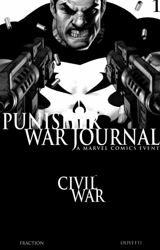 punisher war journal 01 black & white